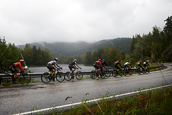 Rain continues to fall during Ladies Tour of Norway 2019 - Stage 1, a 128 km road race from Åsgårdstrand to Horten, Norway on August 22, 2019. Photo by Sean Robinson/velofocus.com