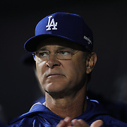 Los Angeles Dodgers coach Don Mattingly during the New York Mets Vs Los Angeles Dodgers, game four of the NL Division Series at Citi Field, Queens, New York. USA. 13th October 2015. Photo Tim Clayton