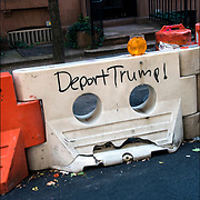 Deport Trump ! President Trump graffiti in Manhattan.
