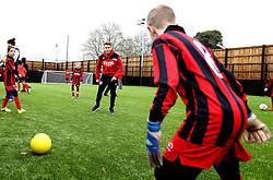 Luke Freeman of Bristol City plays with children at The BCCT EFL Kids Cup  - Mandatory by-line: Robbie Stephenson/JMP - 23/11/2016 - FOOTBALL - South Bristol Sports Centre - Bristol, England - BCCT EFL Kids Cup