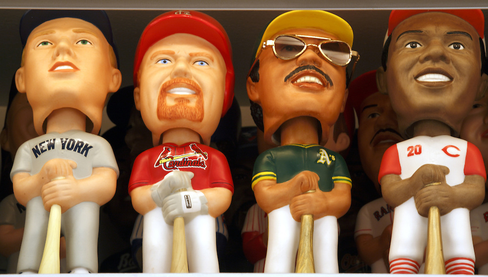 """Baseball Collection: SAM""""S Limited Edition Bobbing Head Figurines"""
