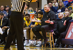 Dec 10, 2016; Morgantown, WV, USA; West Virginia Mountaineers head coach Bob Huggins throws up his hands after a call during the first half against the Virginia Military Keydets at WVU Coliseum. Mandatory Credit: Ben Queen-USA TODAY Sports