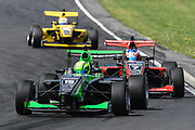 James Pull leads Richard Verschoor and Brendon Leitch in Race 2, Round 3 of the 2018 Castrol Toyota Racing Series at Hampton Downs, Sunday January 28, 2018.<br /> Copyright photo: Bruce Jenkins / www.photosport.nz