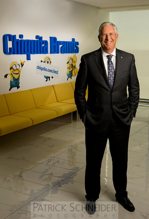 On-location Corporate Photography - Chiquita Brands International Inc. CEO Ed Lonergan at their Charlotte North Carolina headquarters.<br /> <br /> Charlotte Photographer - Patrick SchneiderPhoto.com