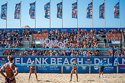 25-08-2019 NED: DELA NK Beach Volleyball, Scheveningen<br /> Last day NK Beachvolleyball / support, fans, centercourt, beach, komop