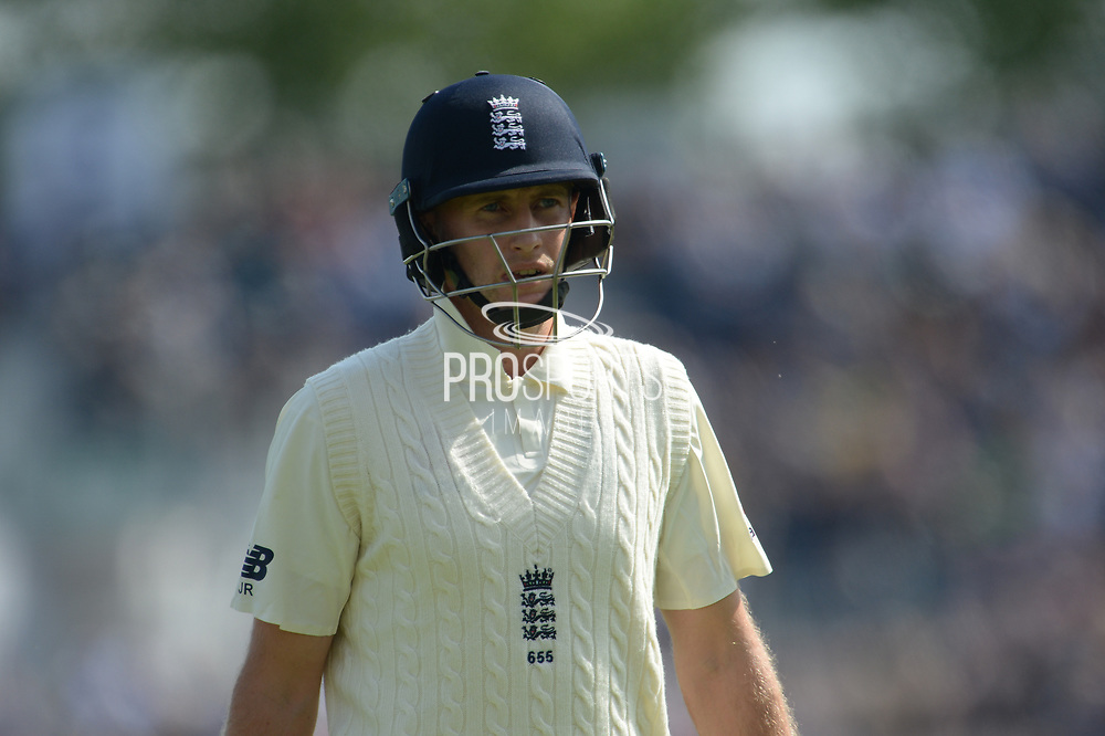 Joe Root of England  during the first day of the 4th SpecSavers International Test Match 2018 match between England and India at the Ageas Bowl, Southampton, United Kingdom on 30 August 2018.