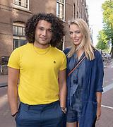 2018, 4 juli. Bumbu Kitchen, Amsterdam. Lancering GTST magazine. Op de foto: Alkan Coklu en Melissa Drost