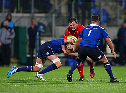 George Kloska of Bristol United is tackled by Jack Aungier of Leinster - Mandatory by-line: Ken Sutton/JMP - 15/12/2017 - RUGBY - Donnybrook Stadium - Dublin,  - Leinster 'A' v Bristol United -
