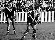 New Zealand Kiwis scrum half Gordon Smith in action with ball, Howie Tamati in background.<br /> Copright photo: Norman Smith / www.photosport.co.nz