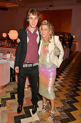 CONNOR HIRST and his mother MAIA NORMAN at an Evening of Riviera Inspired Glamour in aid of CLIC Sargentheld at Sketch, 9 Conduit Street, London on 25th January 2016.