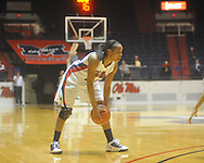 "Ole MIss' Kayla Melson (20) at the C.M. ""Tad"" Smith Coliseum in Oxford, Miss. on Thursday, November 18, 2010. Arizona won 72-70."