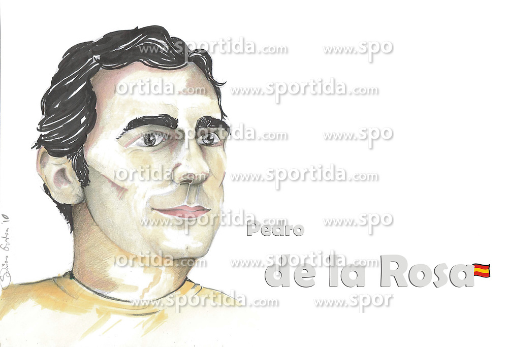 FORMEL 1: Saison 2010, Karrikatur von<br /> Pedro de la ROSA (ESP, Sauber)<br /> &Atilde;'&Acirc;&copy; pixathlon