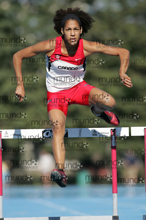 Karelle Edwards in the 2007 Canadian World Youth Team competition gear.