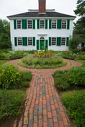 Gardens along the side of the Salem Towne House, Old Sturbridge Village (OSV), a re-created New England town of the 1830s, is a living history museum in Sturbridge, Massachusetts.  OSV, the largest living museum in New England, stands on 200 acres on farm land that once belonged to David Wight.
