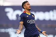 AS Roma's Dutch striker Justin Kluivert reacts during the Serie A match at Giuseppe Meazza, Milan. Picture date: 28th June 2020. Picture credit should read: Jonathan Moscrop/Sportimage