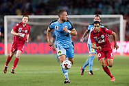 SYDNEY, NSW- NOVEMBER 21: Sydney FC defender Jordy Buijs (5) takes the ball downfield at the FFA Cup Final Soccer between Sydney FC and Adelaide United on November 21, 2017 at Allianz Stadium, Sydney. (Photo by Steven Markham/Icon Sportswire)