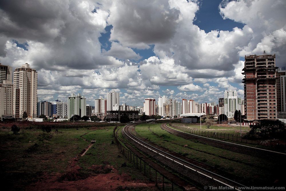 Clouds pass over Aguas Claras (Clear Waters), a rapidly expanding satellite city of Brasilia, Brazil.