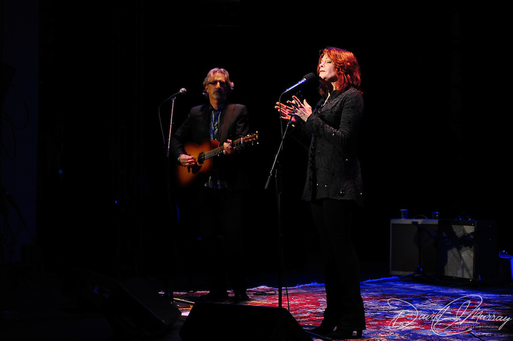 Rosanne Cash performs with her husband John Leventhal at The Music Hall's Singer Songwriter Festival in Portsmouth, NH, April 2012
