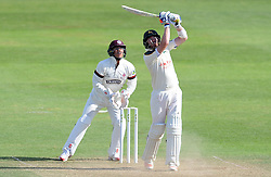 Nottinghamshire's Riki Wessels drives the ball for six. - Photo mandatory by-line: Harry Trump/JMP - Mobile: 07966 386802 - 15/06/15 - SPORT - CRICKET - LVCC County Championship - Division One - Day Two - Somerset v Nottinghamshire - The County Ground, Taunton, England.