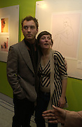 Jude Law and his sister Natasha Law. Fashionart.com launch.  51 Frith St, London W1.  7 December  2005.ONE TIME USE ONLY - DO NOT ARCHIVE  © Copyright Photograph by Dafydd Jones 66 Stockwell Park Rd. London SW9 0DA Tel 020 7733 0108 www.dafjones.com