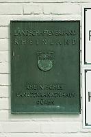 24.04.98, Germany/Düren:<br /> Rheinische Landesklinik, Düren, Schild am Eingan des Verwaltungsgebäudes<br /> IMAGE: 19980424-02/01-26