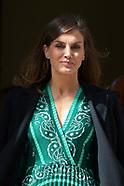 041019 Queen Letizia visit Real Monasterio de la Encarnacion