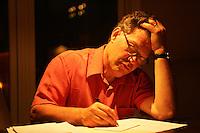 Al Franken at home in Minneapolis  June 2008..Photograph by Owen Franken .. Senator Al Franken at home in Minneapolis, Minnesota Al Franken