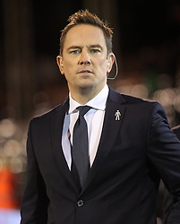 Sky Sports' Simon Thomas - Photo mandatory by-line: Robbie Stephenson/JMP - Mobile: 07966 386802 - 06/03/2015 - SPORT - Football - Fulham - Craven Cottage - Fulham v AFC Bournemouth - Sky Bet Championship