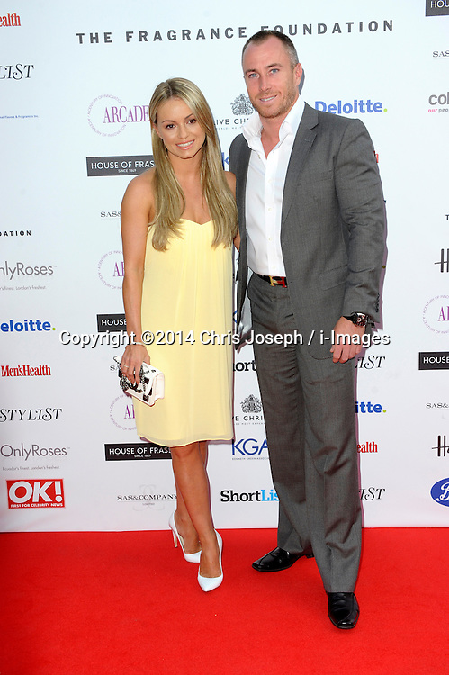 Ola & James Jordan attends the Fifi awards ceremony, The Brewery, London, United Kingdom. Thursday, 15th May 2014. Picture by Chris Joseph / i-Images