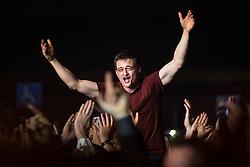 """© Licensed to London News Pictures . 02/12/2015 . Manchester , UK . Noel Gallagher fans in the audience . """" Radio X Road Trip """" at the O2 Apollo in Manchester . Photo credit : Joel Goodman/LNP"""