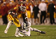 25 OCTOBER 2008: Iowa State wide receiver R.J. Sumrall (5) gets by the defender in the second half of an NCAA college football game between Iowa State and Texas A&M, at Jack Trice Stadium in Ames, Iowa on Saturday Oct. 25, 2008. Texas A&M beat Iowa State 49-35.