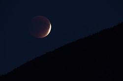 lunar eclipse blood moon rising