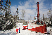 Major Drilling, Sandvik large drilling maching from  in action on a gold field., Osisko, Malartic Project, Malartic, Val d'Or, Québec, Canada, 132008021322008. © Photo Marc Gibert / adecom.ca