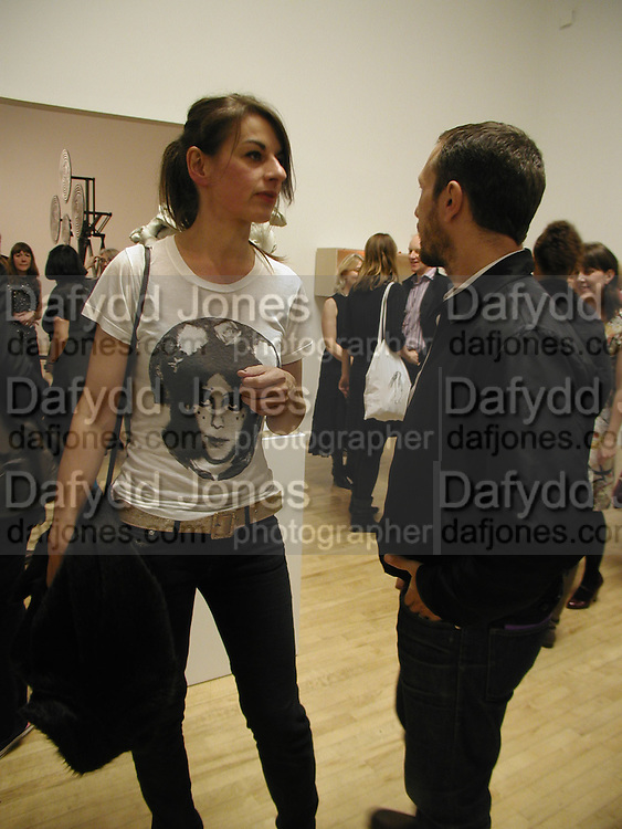 Rebecca Warren and Jake Walters, Turner Prize 2006 private view of an exhibition of work by this year's shortlist (Rebecca Warren, Tomma Abts, Phil Collins and Mark Titchner) for visual arts prize. Tate Brittain. London 3 October 2006. -DO NOT ARCHIVE-© Copyright Photograph by Dafydd Jones 66 Stockwell Park Rd. London SW9 0DA Tel 020 7733 0108 www.dafjones.com