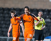 Bilel Mohsni of Dundee United celebrates after scoring his side's second goal - Dundee United v Dumbarton in the SPFL Championship at Tannadice, Dundee<br /> <br />  - &copy; David Young - www.davidyoungphoto.co.uk - email: davidyoungphoto@gmail.com