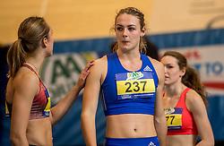 11-02-2017 NED: AA Drink NK Indoor, Apeldoorn<br /> Bowien Jansen 209, Lieke Klaver 237 na de 60 meter