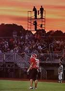 TOM BUSHEY/The Record.Roadney Sepulveda of Port Jervis waits to receive  a kickoff during a game against Monroe-Woodbury at Port Jervis..