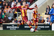 Callum Guy of Bradford City during the EFL Sky Bet League 1 match between Bradford City and Gillingham at the Northern Commercials Stadium, Bradford, England on 24 March 2018. Picture by Paul Thompson.