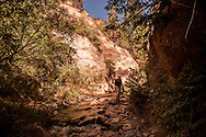 Hiking Kanarra Creek Falls near Cedar City, Utah
