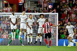 Steven Davis of Southampton free kick sails over the crossbar - Mandatory by-line: Jason Brown/JMP - Mobile 07966386802 - 31/07/2015 - SPORT - FOOTBALL - Southampton, St Mary's Stadium - Southampton v Vitesse Arnhem - Europa League