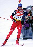 ◊Copyright:<br />GEPA pictures<br />◊Photographer:<br />Thomas Karner<br />◊Name:<br />Bjoerndalen<br />◊Rubric:<br />Sport<br />◊Type:<br />Ski nordisch, Biathlon<br />◊Event:<br />Biathlon Weltcup, Staffelwettkampf Maenner 10km<br />◊Site:<br />Ruhpolding, Deutschland<br />◊Date:<br />15/01/05<br />◊Description:<br />Ole Einar Bjoerndalen (NOR)<br />◊Archive:<br />DCSTK-1501054007<br />◊RegDate:<br />15.01.2005<br />◊Note:<br />8 MB - MP/MP - Nutzungshinweis: Es gelten unsere Allgemeinen Geschaeftsbedingungen (AGB) bzw. Sondervereinbarungen in schriftlicher Form. Die AGB finden Sie auf www.GEPA-pictures.com.<br />Use of picture only according to written agreements or to our business terms as shown on our website www.GEPA-pictures.com.
