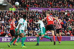 March 2, 2019 - Sunderland, England, United Kingdom - Sunderland's Jimmy Dunne heads towards goal during the Sky Bet League 1 match between Sunderland and Plymouth Argyle at the Stadium Of Light, Sunderland on Saturday 2nd March 2019. (Credit Image: © Mi News/NurPhoto via ZUMA Press)
