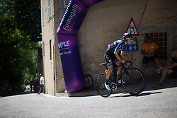 \katal of Hitec Products Cycling Team rides near the top of the final climb of Stage 5 of the Giro Rosa - a 12.7 km individual time trial, starting and finishing in Sant'Elpido A Mare on July 4, 2017, in Fermo, Italy. (Photo by Balint Hamvas/Velofocus.com)