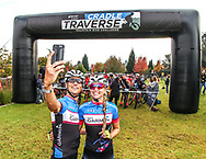 Ben Melt Swanepoel takes a pre-race selfie with his girlfriend and Team Garmin riding partner Yolandi du Toit ahead of Stage 2 of the Glacier Cradle Traverse, on Saturday the 6th of May 2017. Photo by Oakpics/Cradle Traverse/Sportzpics.