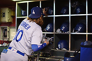 PHOENIX, AZ - AUGUST 31:  Justin Turner #10 of the Los Angeles Dodgers prepares for the MLB game against the Arizona Diamondbacks at Chase Field on August 31, 2017 in Phoenix, Arizona.  (Photo by Jennifer Stewart/Getty Images)