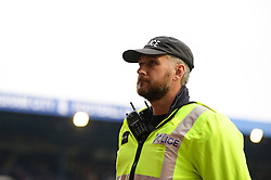 Police presence pitch side at the ST Andrews Stadium - Mandatory by-line: Dougie Allward/JMP - 30/10/2016 - FOOTBALL - St Andrew's Stadium - Birmingham, England - Birmingham City v Aston Villa - Sky Bet Championship