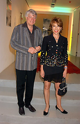 MR GEOFFREY ROBERTSON QC and his wife, writer KATHY LETTE at a party to celebrate the publication of 'Shalimar The Clown' by Salman Rushdie, held at the David Gill Galleries, 3 Loughborough Street, London SE11 on 7th September 2005.<br />