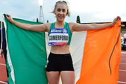 Orla Comerford, IRE celebrating winning bronze in the T13 100m at the Berlin 2018 World Para Athletics European Championships