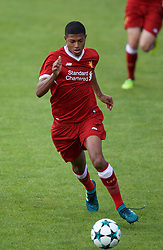 BIRKENHEAD, ENGLAND - Wednesday, September 13, 2017: Liverpool's Rhian Brewster during the UEFA Youth League Group E match between Liverpool and Sevilla at Prenton Park. (Pic by Paul Greenwood/Propaganda)