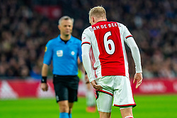 Donny van de Beek #6 of Ajax injured on his hamstring<br />  in action during the match between Ajax and PSV at Johan Cruyff Arena on February 02, 2020 in Amsterdam, Netherlands